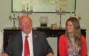 Luis Schmidt, Embajador de Chile en China junto con Carla Raglianti, Directora de la Corporación Cultural de Lo Barnechea.