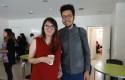 Fernanda Contreras junto a su profesor Rodrigo Loyola