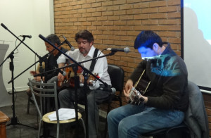 Edison Otero, Armando Roa y Roberto Aedo