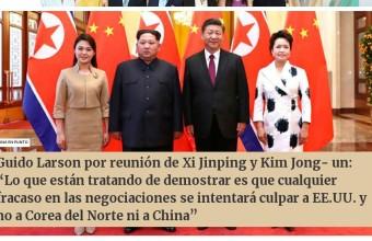 Guido Larson entrevistado por Radio Duna sobre el encuentro entre los líderes de Corea del Norte y China
