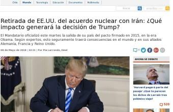 Retirada de EE.UU. del acuerdo nuclear con Irán: ¿Qué impacto generará la decisión de Trump? - Guido Larson
