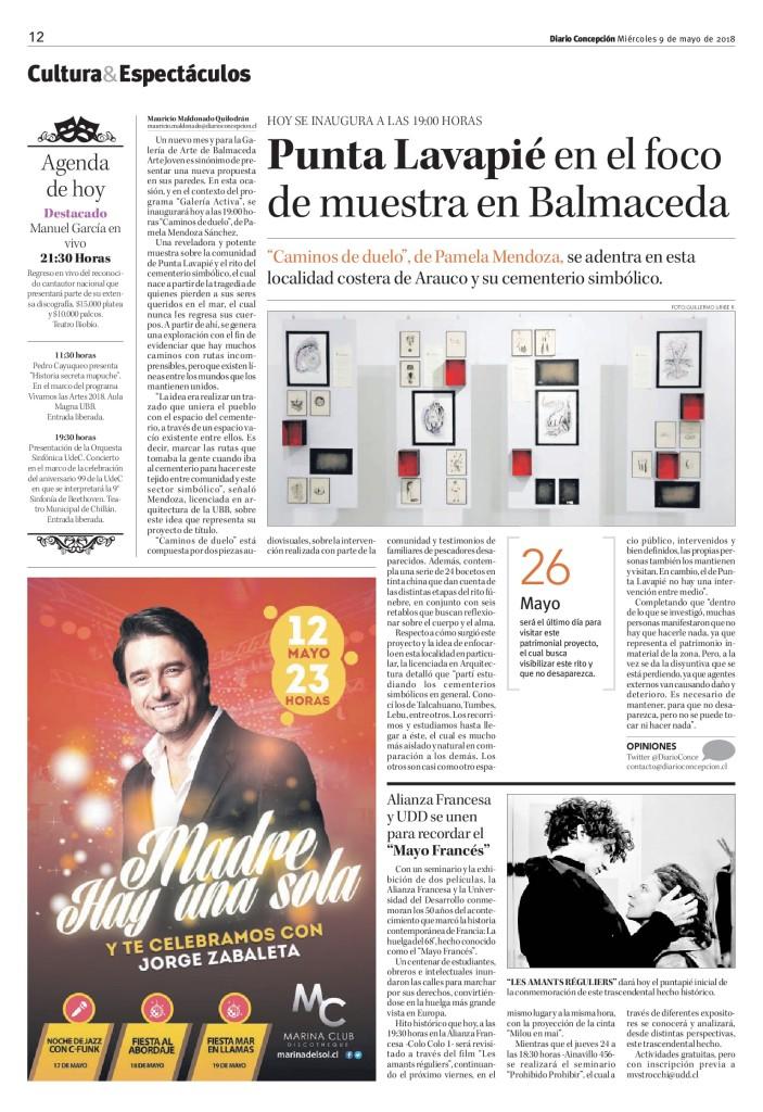 Mayo del 68 CCP - Diario Concepción - 09.05