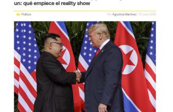 Histórico encuentro entre Trump y Kim Jong-un: qué empiece el reality show - Guido Larson - Revista Caras.cl