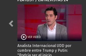 Analista Internacional UDD por cumbre entre Trump y Putin - Guido Larson - 24Horas
