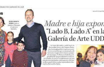 """Madre e hija exponen:""""Lado B, Lado A"""" en la Galería de Arte UDD"""