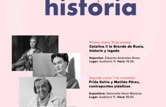 """Ciclo de Charlas """"Mujeres que cambiaron la Historia"""" en Concepción"""