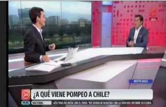 Entrevista Guido Larson sobre visita de Mike Pompeo a Chile - 24 Horas